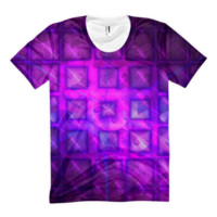 Shiny Square Buttons || Women's sublimation t-shirt — Future Life Fashion