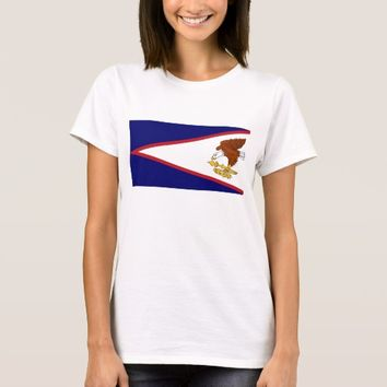 Women T Shirt with Flag of American Samoa