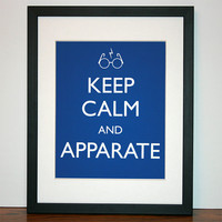 Keep Calm and Apparate Harry Potter Inspired by SayItAgainDesign