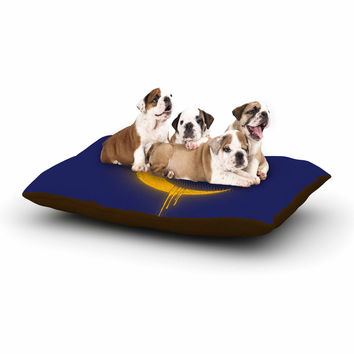 "BarmalisiRTB ""Melting Moon2"" Yellow Digital Dog Bed"