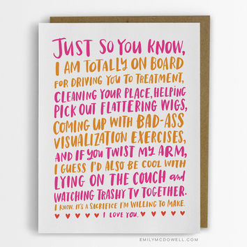 Friendship Through Cancer Empathy Card