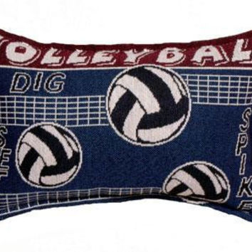 2 Volleyball Throw Pillows - One Side Design