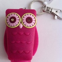 Bath and Body Works Pocketbac Holder - Pink Owl with Light up Eyes