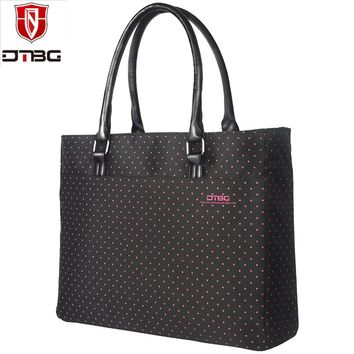 DTBG Brand 15.6 Inch Women Shoulder Bag Ladies Laptop Tote Bag Nylon Briefcase Casual Handbag Casual Travel Bag