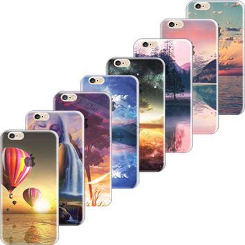 Top Popular Cover For Apple iPhone 5C iPhone5C Case Cases Soft TPU Silicon Mobile Phone Shell Painted Scenery Top Fashion Hot !!