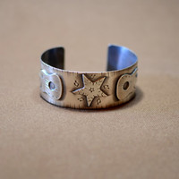 Sterling silver music bracelet with guitars and star for a passionate musician or guitarist
