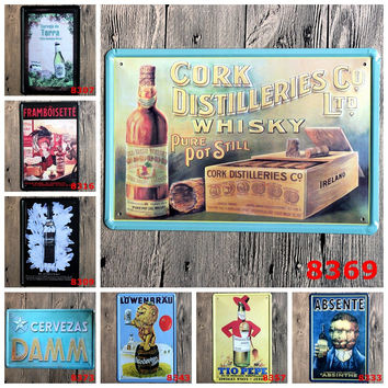 Cork Distilleries Whisky Lovers Beer Joint Bistro Café Drinking Bar Store Décor Home Bar Wall Posters