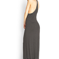 Striped T-Back Maxi Dress