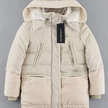 Cream Cozy Jacket with White Faux Fur