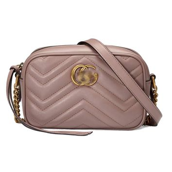 HPASS Classic Camera Bag Small Purse Shoulder Bag (Nude Pink18cm/24cm) for Ladies