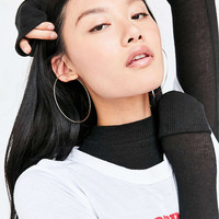 Sterling Silver + 18k Gold Plated Rachel Large Hoop Earring - Urban Outfitters