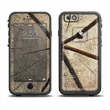 The Cracked Wooden Stump Apple iPhone 6 LifeProof Fre Case Skin Set