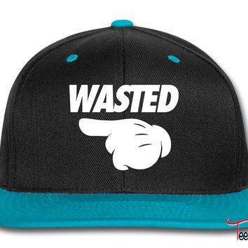 Wasted Pointing Left Snapback