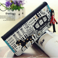 New Cartoon Original  Carriage Clutch Bag& Wallet