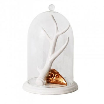 IMM LIVING ANTLER & RAVEN JEWELRY HOLDER