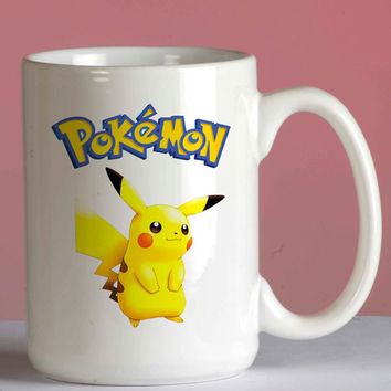 Pokemon Pikachu mug coffee, mug tea, size 8,2 x 9,5 cm