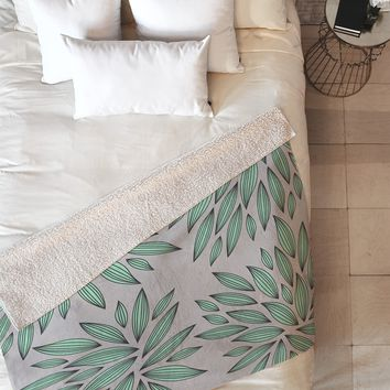 Gabi Mint Fleece Throw Blanket