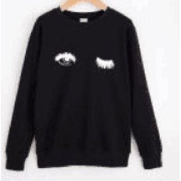 DCCKR2 Eye printing personalized fashion sweater