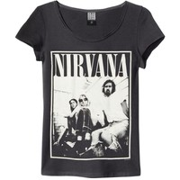 Nirvana  Group Shot Junior Top Black