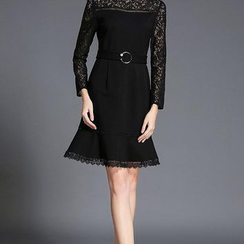 Little Black Goth Lace Dress