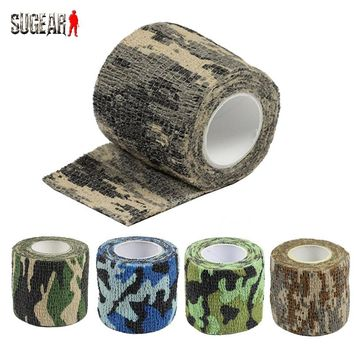 5 Color Tactical Camouflage 1 Roll Stretch Bandage Outdoor Hunting Shooting Tape(4.5M) Military Gun Accessory Bicycle Decoration