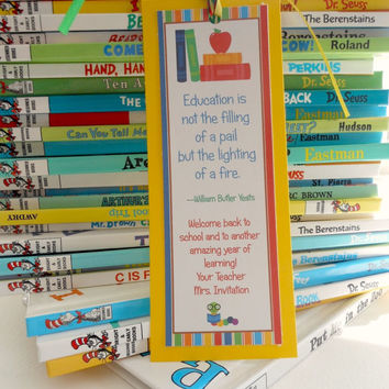 Back to School Bookmark,Bookmark , Student Gift