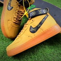 Louis Vuitton LV x Nike Air Force 1 Mid Shoes AF1 Sneaker 882096-200 - Best Online Sale