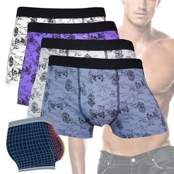Men's Boxer Brief Shorts with Skull Print