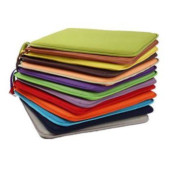 New Solid Color Soft Comfort Seat Mat Lumbar Pillow Office Chair Seat Cushion Bolster Buttocks Tie On Pad 40x40cm