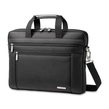 "samsonite corporation classic laptop slim briefcase, 16""x2""x12"", black"