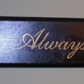 Always Kiss Me Goodnight Wood Sign  Black/Gold