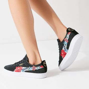 Puma Basket Heart Hyper Embroidered Sneaker | Urban Outfitters