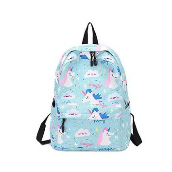School Backpack trendy Printing pupils backpacks flamingos and unicorn student backpacks for school teenagers girls women schoolbag mochilas mujer 2018 AT_54_4