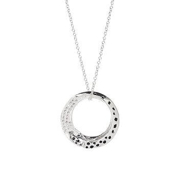 Karma Necklace 925 Sterling Silver Plated- Silver Necklace for Women- Sterling Silver Necklace- Pendant Necklace-