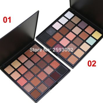 Professional 25 Color Eyeshadow Palette Earth Warm Shimmer Matte Eye Shadow Pallete Beauty Makeup Set Smoky Eye-shadow
