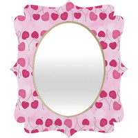 Lisa Argyropoulos Wild Cherry Stripes Quatrefoil Mirror