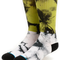 Stance Grady Green & White Crew Socks