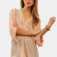 Color Pop Blouse - Rose