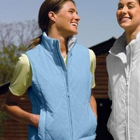 Women's Quilted Vest - Buy Wholesale Tri-Mountain Women's Nylon Vest