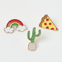 LA Hearts Pizza Is Bae Pin Set at PacSun.com