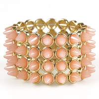 Spiked Milk Bracelet: Strawberry [ASMB 912] - $24.99 : Spotted Moth, Chic and sweet clothing and accessories for women