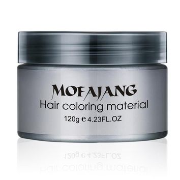 MOFAJANG Hair Dye Coloring Mud Cream Salon Hair Styling Pomade Silver Ash Grandma Grey Hair Waxes Temporary Disposable Unisex