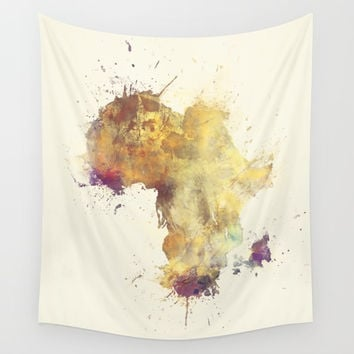 Africa map 5 #africa Wall Tapestry by jbjart