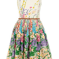 Oasis English Country Garden | Multi Floral Belted Dress | Womens Fashion Clothing | Oasis Stores UK