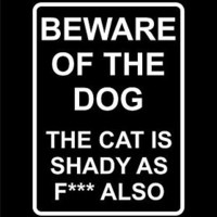 Beware Of The Dog Warning Sticker Vinyl Decal Funny Cat Sticker Window For Jeep