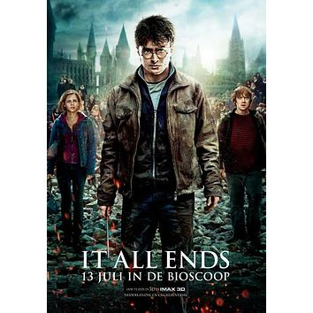 Harry Potter and the Deathly Hallows: Part II (Netherlands) 27x40 Movie Poster (2011)