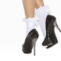 Ruffle School Girl Socks