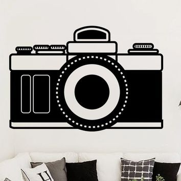Camera Photography Style Vinyl Wall Art Decal