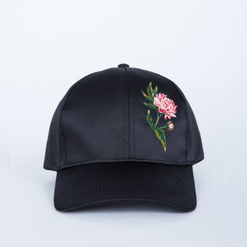 Rose Patched Cap