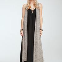 Open-Front Maxi Cardigan